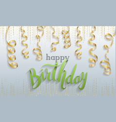Happy birthday gift card confetti vector