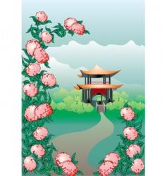 japan landscape vector image vector image