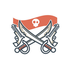 Jolly roger pirate icon flag skull and vector
