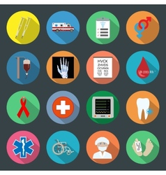 Medicine flat icons set 2 vector
