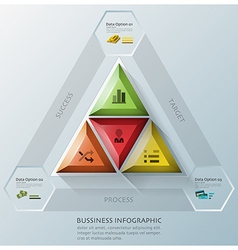 Modern triangle and hexagon business infographic vector