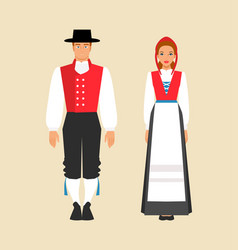 national costume norway vector image