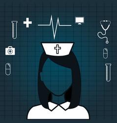 Nurse digital medical healthcare isolated vector