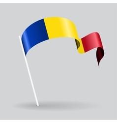 Romanian wavy flag vector