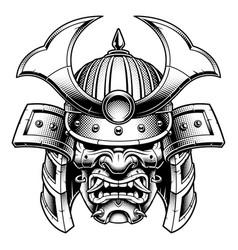 samurai monochrome version vector image