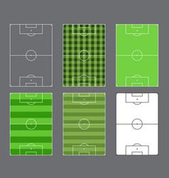 soccer fields design vector image