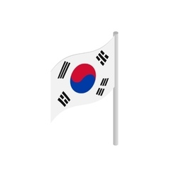 South Korea flag icon isometric 3d style vector image vector image