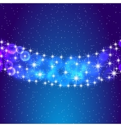 Stars and night sky eps10 vector image vector image