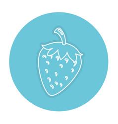 Strawberry fresh fruit icon vector