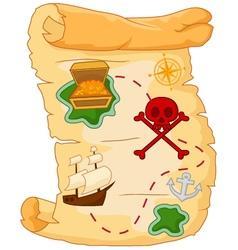 Treasure map vector