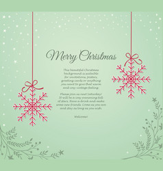 vintage background with snowflakes vector image vector image