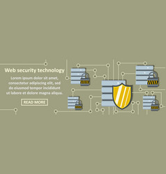 web security technology banner horizontal concept vector image