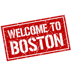 Welcome to boston stamp vector