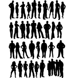 casual people vector image