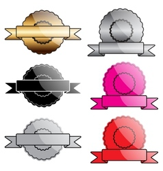 Blank award labels vector image