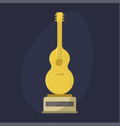 Gold rock star trophy music notes best vector