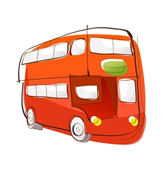 A view of bus vector image