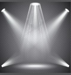 scene illumination with light effects vector image