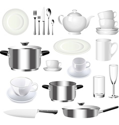 Crockery set vector