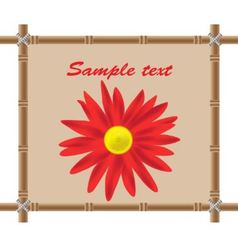 bamboo frame and flower vector image