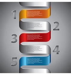 Infographics wide spiral vector