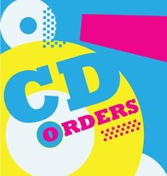 cdorder poster vector image