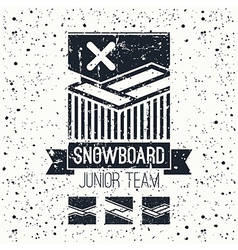Snowboard junior team emblem vector