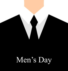 Celebration card for international mans day - vector