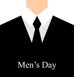 celebration card for International mans day - vector image