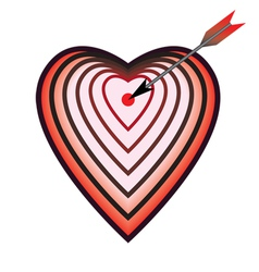 target as heart vector image