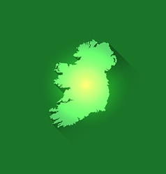 Irish contour of map vector
