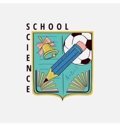 Colored vintage school label vector