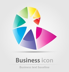 Originally created rainbow business icon vector