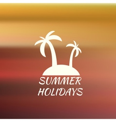 Summer background with logo vector
