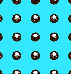 Sketch circles seamless pattern vector
