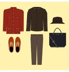 Casual man clothes vector