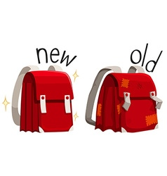 Schoolbag new and old vector image