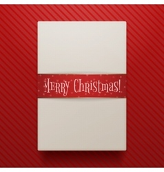 Christmas realistic paper gift box template vector