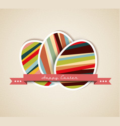 paper card easter eggs vector image