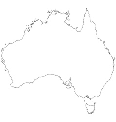 Outline map of australia vector