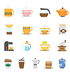 Color icon set - coffee and tea vector