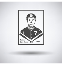 Baseball card icon vector