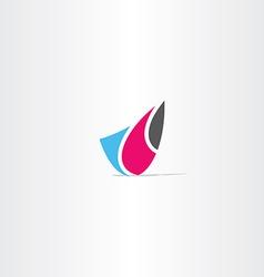 Abstract business tech logo symbol vector