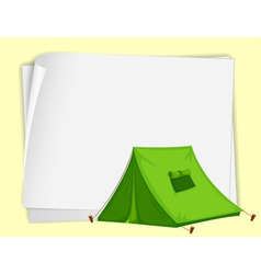 Camping Tent paper copyspace vector image vector image