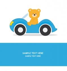 car bear vector image vector image