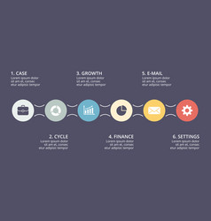 circle timeline infographic cycle diagram vector image vector image