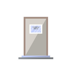 Class door isolated icon in flat style vector