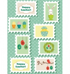 easter stamps vector image