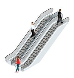 Escalator image isometric escalator vector