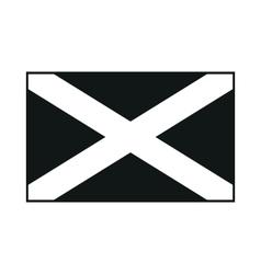 Flag of scotland saint andrews cross monochrome on vector